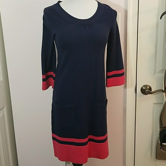 e8a58c1c5c8 Boden Dresses   Skirts - BODEN Mod Sixties Navy Pink Knitted Dress